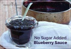 easy, no-sugar-added blueberry sauce recipe