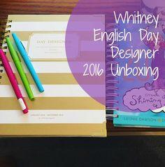 Whitney English Day Designer 2016 Unboxing