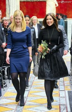 06 FEBRUARY 2014 Crown Princess Mary attended the official opening of the exhibition at Orddrupgaard.