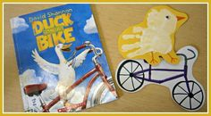 """""""Duck on a Bike"""" Story Retelling and Hand Print Art"""