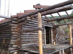 building log cabin - YouTube