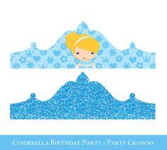 Cinderella Crown Printable, Birthday Crown, Crown Printable, Princess Crown, Princess party hat, Cinderella Birthday   #PrincessCrown #CinderellaBirthday #CinderellaCrown #CrownPrintable #BirthdayCrown #BirthdayPrintable #PrintableBirthday #BirthdayHat #PartyPrintable #PartyHatPrintable