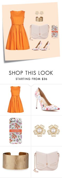 """conjunto orange"" by lisbeth-betancourt on Polyvore featuring moda, Post-It, Woolrich, GUESS by Marciano, Panacea y Ted Baker"