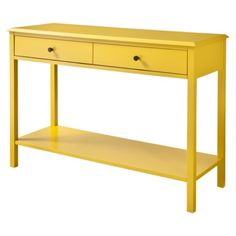 Beautiful Threshold™ Windham Console Table With Shelf   Yellow