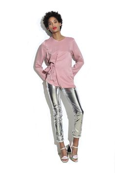 Five ways to wear...   silver trousers for women – in pictures