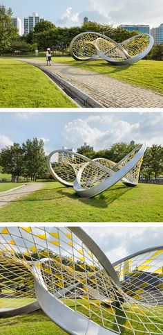 SOMA, the Seoul Olympic Museum of Art, commissioned HG-Architecture together with Byeong-Sam Jeon, to create a piece named 'Dynamic Relaxation' to include in its sculpture park.