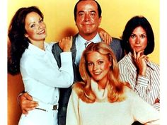 Kate Jackson, Jaclyn Smith, Cheryl Ladd, and David Doyle in Charlie's Angels Classic Series, Classic Tv, 1970s Tv Shows, Cinema Tv, Kate Jackson, Cheryl Ladd, Farrah Fawcett, Star Pictures, Vintage Tv