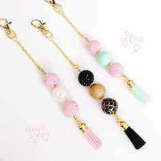 Just made these cute tassel planner charms! Will be listing these soon. #planner #bulletjournalinspirationandproducts