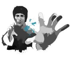 Bruce Lee, Tinted Style | http://www.yourpainting.de/motive-artikel/bruce-lee
