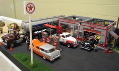scale model gas station