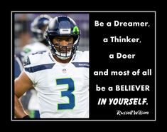 Russell Wilson Inspirational Football Motivation Quote Wall Art Poster, Best Friend Birthday Gift for SON Seahawks Photo Decor by ArleyArt on Etsy Inspirational Football Quotes, Motivational Wall Art, Wall Art Quotes, Quote Wall, Wilson Seahawks, Wilson Football, Football Motivation, Motivation Wall, Football Signs