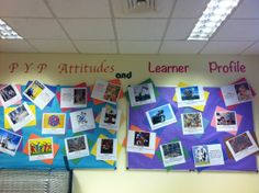 PYP Attitudes and Learner Profile Ib Learner Profile, Ib Classroom, International Baccalaureate, Curriculum, Attitude, Projects To Try, Organization, Year 2, Display Ideas