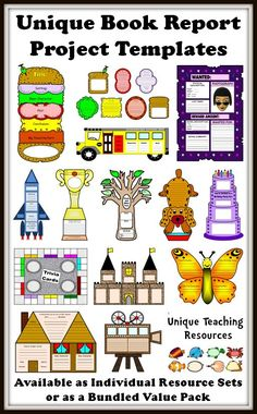Creative Book Report Project Templates For Elementary School Students