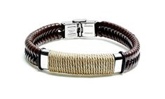 Men's Leather Bracelet or Dog-tag Necklace Deal of the Day | Groupon