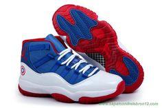 Branco/Vermelho/Azul AIR JORDAN 11 Captain America