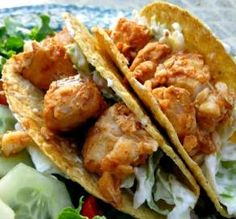 "Baja Fish Tacos: ""Delish! We made these with tilapia and cut back on the sour cream just a bit. These tacos were quick and yummy."" -Hot Cooking Mama"