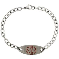 Save $17.00 on Surgical Steel Type 2 Diabetic Medical Alert Bracelet 9/16 inch wide, 8 1/2 inch long; only $12.95