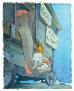 Dumbo - my favorite Disney movie when I was a kid. One of the saddest days of my childhood was when I thought I killed Dumbo when the VCR ate the tape. I cried for hours. Disney Magic, Walt Disney, Disney Pixar, Disney Amor, Disney Films, Disney And Dreamworks, Disney Characters, Dumbo Disney, Disney Movie Scenes