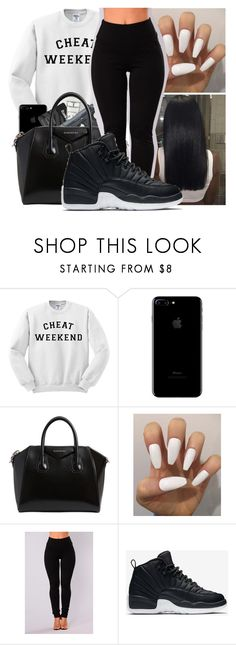 """"" by kakoproduction ❤ liked on Polyvore featuring M.A.C, Givenchy and NIKE"