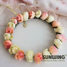 Flower wreath garland for bridal,flower girls. 40% off discount.