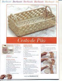 Crochê Gráfico: Cesta para pão em crochê endurecido