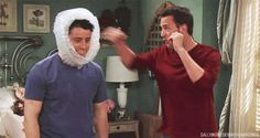chandler and joey <3 lol
