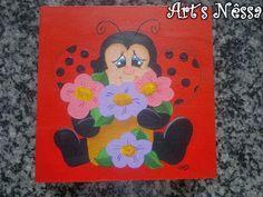 Art's Nêssa - Artesanato: Caixa joaninha