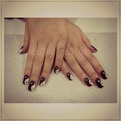 Ying Yang nails I did :) Yin Yang Nails, Get Nails, Nail Bar, Cool Nail Art, Nail Artist, Gel Manicure, Nail Ideas, Gel Manicures, Nail Art Ideas