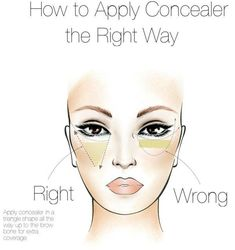 How to apply concealer! Finally the YOUnique right way. How to apply concealer! Finally the YOUnique right way. How To Apply Concealer, Best Concealer, Cream Concealer, How To Apply Makeup, Makeup Tricks, Best Makeup Tips, Best Makeup Products, Makeup Ideas, Make Up