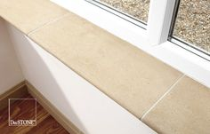 alternative internal window sills - Google Search Internal Window Sill, Tiled Window Sill, Decatur House, New Kitchen, Kitchen Ideas, Conservatory, Tile Floor, Kitchen Design, Tiles