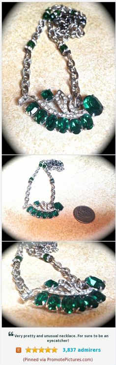 #green #rhinestonenecklace #vintagenecklace #handmadejewelry #vintageassemblage #statementnecklace #fallfashion #bling #greenrhinestonenecklace #etsy #accessories #costumejewelry https://www.etsy.com/JNPVintageJewelry/listing/112652973/green-rhinestone-necklace-handmade?ref=listing_published_alert  (Pinned using https://PromotePictures.com)