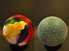 A Huge Collection of Embroidered Temari Spheres by an 88 Year Old Grandmother