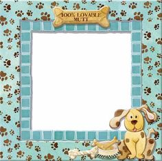 Dog borders and frames - photo#4