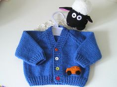 100% wool baby cardigan / sweater - 0-6 months - available to buy from Ewe2U on Etsy.com