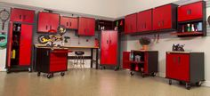 Geneva Garage Gear is a leader in the industry, producing top quality cabinets for optimum organization. Products include storage and wall cabinets, work benches, and more. Garage Storage Cabinets, Diy Cabinets, Tool Cabinets, Detached Garage Designs, Garage Workshop Organization, Cool Garages, Garage Interior, Showroom Design, Interior Design
