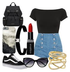 """school"" by ezmia26 ❤ liked on Polyvore featuring Helmut Lang, Pierre Balmain, Lana, Vans, Burberry, La Perla, Kenneth Jay Lane, Smashbox and firstfayofschool"