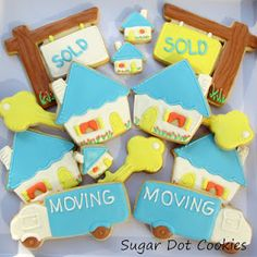 New House Sugar Cookies with Royal Icing