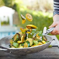 Grilled Summer Squash with Fresh Herbs #GlutenFree