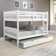 South Shore Step One Full Platform Bed with Drawers & Reviews | Wayfair Platform Bed With Drawers, Bunk Beds With Drawers, Under Bed Drawers, Bunk Beds With Storage, Full Platform Bed, Under Bed Storage, Bunk Bed With Trundle, Twin Bunk Beds, Kids Bunk Beds