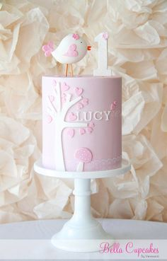 ideas baby shower girl cupcakes children for 2019 Pretty Cakes, Cute Cakes, Patisserie Fine, 1st Birthday Cakes, Baby Girl Birthday Cake, Birthday Ideas, Girly Cakes, Baby Girl Cakes, Cake Creations