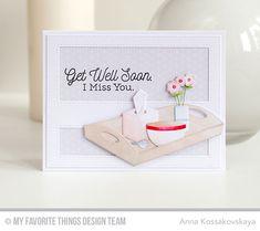 Handmade card from Anna Kossakovskaya featuring Bedside Comfort Die-namics #mftstamps
