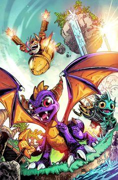 Skylanders Sample by Fico-Ossio Skylanders Characters, Skylanders Spyro, Skylanders Party, Comic Books Art, Comic Art, Epic Backgrounds, All Superheroes, Spyro The Dragon, Dragon City