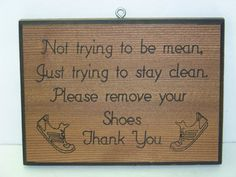 Please Remove Your Shoes by PNBWoodWorks on Etsy
