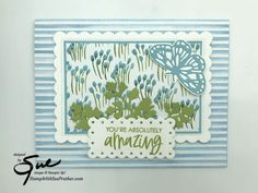 Youre A Peach, You're Awesome, Amazing, Color Contour, Glue Dots, Blue Flowers, Free Gifts, Stampin Up, Art Pieces