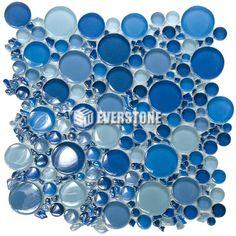 Bubbles Crystal Glass ESM05 Mixed Glossy Mosaic | EVERSTONE International
