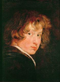An Anthony van Dyck self-portrait from around 1613, when he was a teenager. Credit Gemäldegalerie der Akademie der bildenden Künste, Vienna