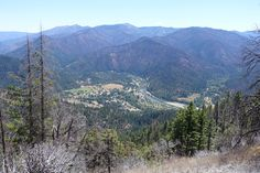 On the PCT looking back down into Seiad Valley