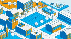 Dream Your City animated infographic Isometric Art, Isometric Design, City Illustration, Illustration Styles, Illustrations, 3d Drawings, Cartography, Motion Design, Motion Graphics