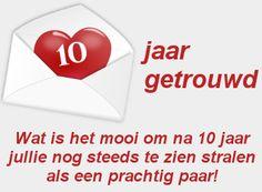 leuke 10 jaar getrouwd felicitatie plaatjes met tekst leukeplaatjesz.nl Gift, Paper