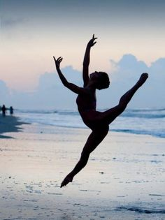 always dance on the beach....then you'll realize how much fun it is!
